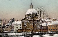 Kościół i klasztor przed 1944 r.