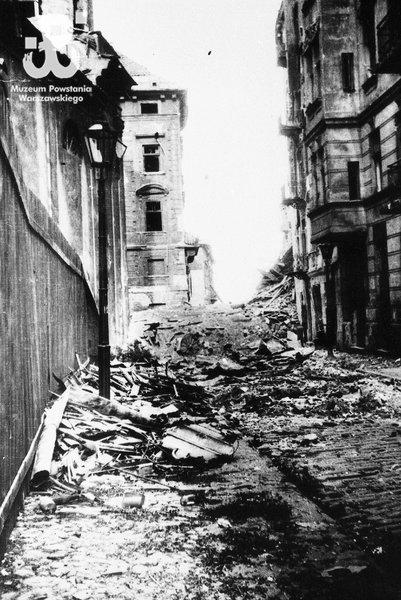 Ul. Franciszkańska, sierpień 1944