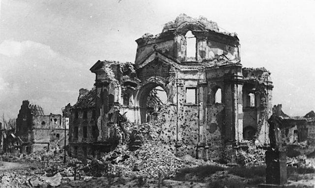 Zburzony kościół