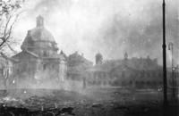 Kościół i klasztor 1944
